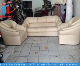 Bọc lại ghế sofa giá bao nhiêu? - Mẫu ghế sofa sau khi bọc lại tại công ty Tài Lộc