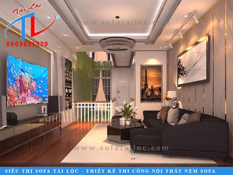 Tấm ốp tường trang trí phòng khách đẹp làm theo kiểu xương cá vô cùng độc đáo và lạ mắt