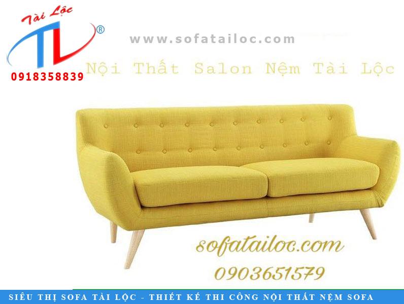 Mẫu sofa băng giá rẻ với tông vàng bắt mắt