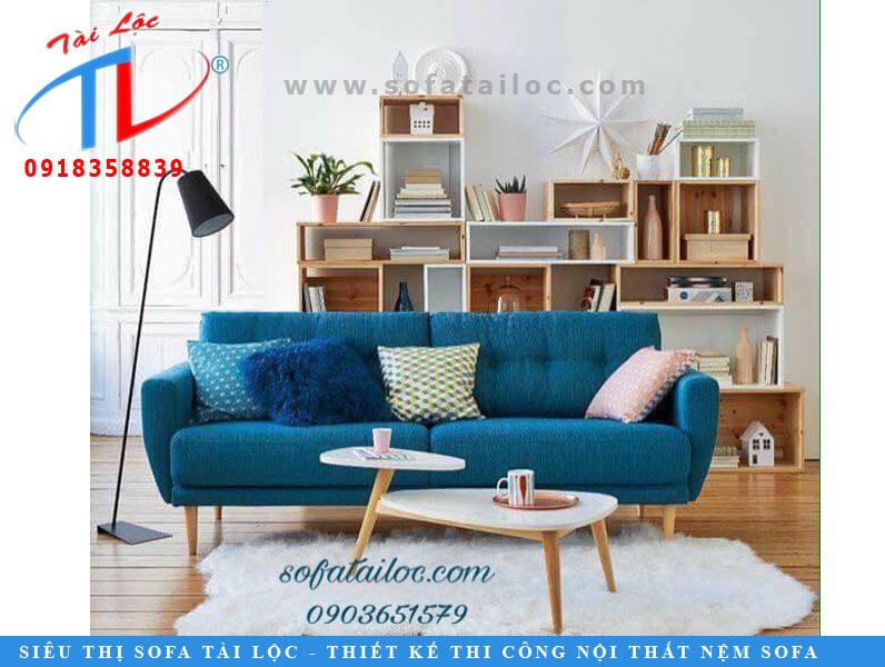 Sofa băng màu xanh biển cực đẹp