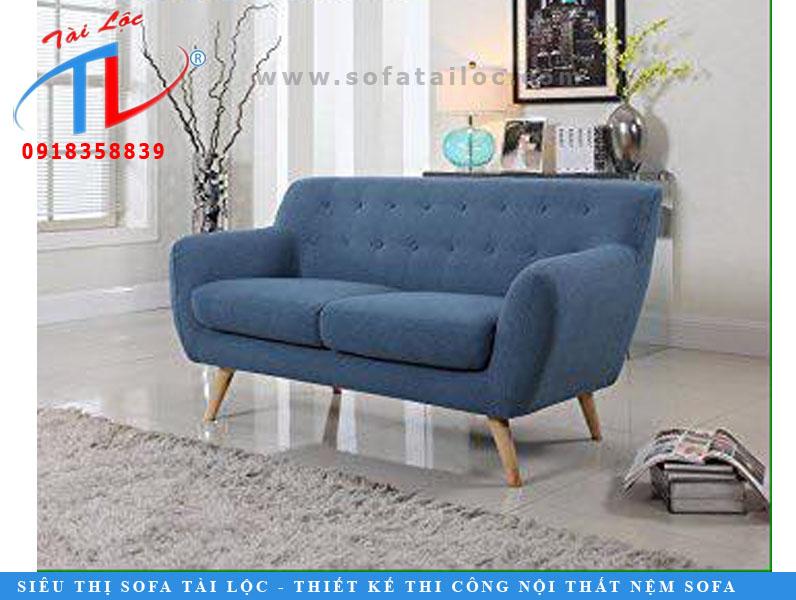 Sofa băng màu xanh nhạt tinh tế