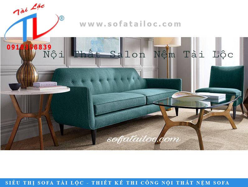 Sofa băng giá rẻ màu xanh mòng két cực đẹp