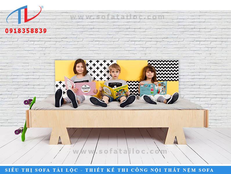 Thiết kế và thi công ốp vách phòng ngủ cho bé bằng vách nệm ốp tường
