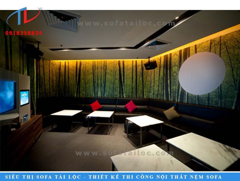 Đay cũng có thể coi là mẫu ghế sofa karaoke giá rẻ đẹp được nhiều người tiêu dùng lựa chọn.