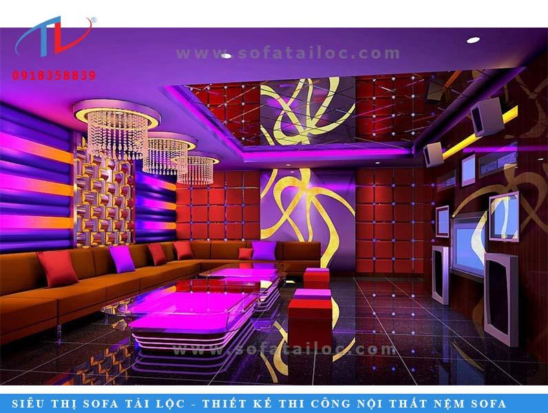Những sắc màu rực rỡ chính là xu hướng mọi người hướng tới khi thiết kế ghế sofa karaoke hiện đại tại tphcm.