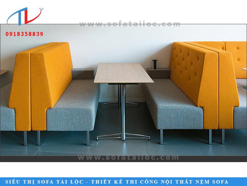 Đây là ví dụ điển hình cho mẫu ghế sofa băng cafe rút nút và không rút nút.