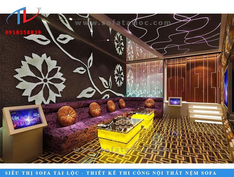 Model sofa karaoke - mẫu vải nhưng sang trọng đầy cuốn hút.