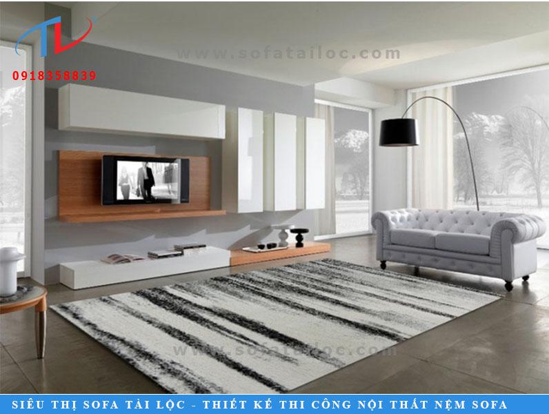 Thảm trải sàn phòng khách lông xù F0004
