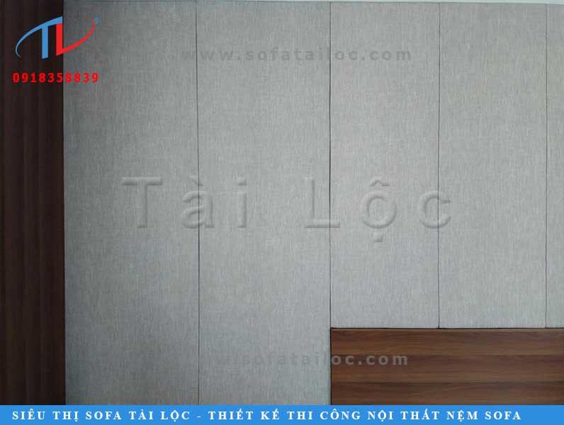 Thi công ốp vách tường trang trí bọc vải đẹp, chất lượng, giá xuất xưởng