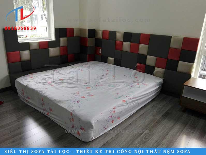 Thi công ốp tường phòng ngủ tại nhà chị Thảo, quận 9 TPHCM