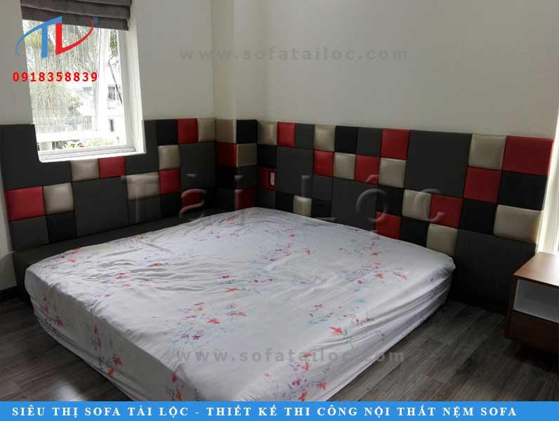 Tấm ốp tường phòng ngủ đẹp bọc giả da đem lại vẻ đẹp thu hút và độc đáo