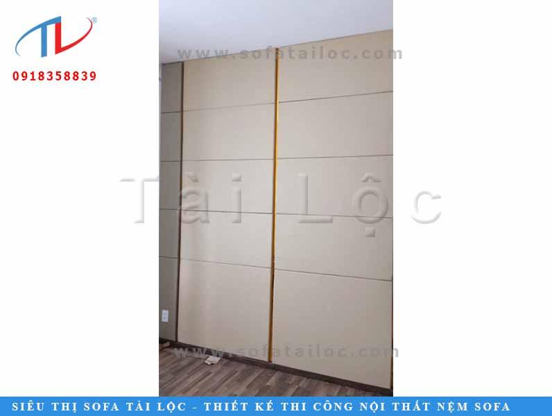 Thi công ốp tường trang trí phòng khách cho anh Phương quận Tân Bình TPHCM