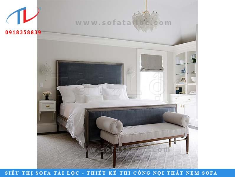 Thiết kế, thi công, đóng mới, bọc nệm gắn đầu giường là một trong các dịch vụ chủ chốt của công ty nội thất Tài Lộc.