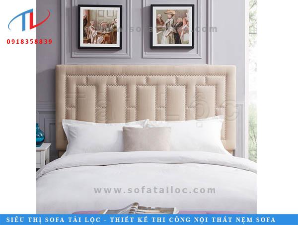 Tấm ốp đầu giường đẹp màu be đem đến nét thanh lịch và hiện đại cho phòng ngủ