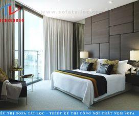 Thiết kế và thi công ốp vách phòng ngủ theo yêu cầu của khách hàng.