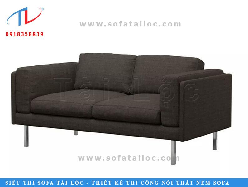 Bộ ghế sofa cho phòng khách nhỏ giá rẻ cho phòng ốc thêm xinh. Tông màu đen giúp ghế có vẻ hiện đại và cực kỳ vệ sinh.