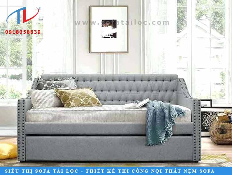 Sofa giường nệm cao cấp với thiết kế hiện đại, nhỏ gọn có thể làm vừa ý nhiều người tiêu dùng.