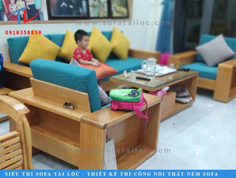 Công trình thực tế: May nệm ghế gỗ cho khách hàng