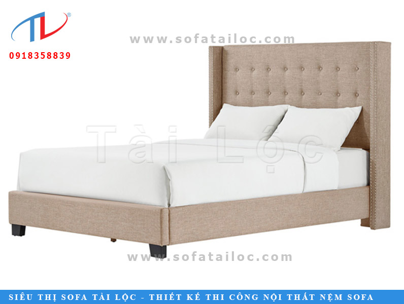 Giường ngủ bọc nệm đầu giường Begie Harvey Linen mang màu be không chỉ đem lại vẻ đẹp sang trọng, hiện đại mà còn khiến cả gian phòng thêm ấm cúng.