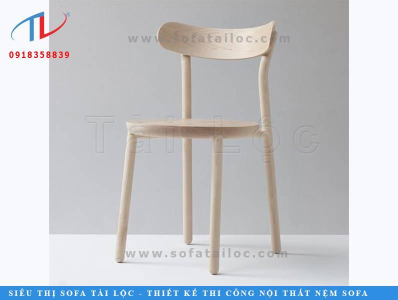 Mẫu ghế gỗ cafe sang trọng CF13 với phần gỗ được giữ màu nguyên bản