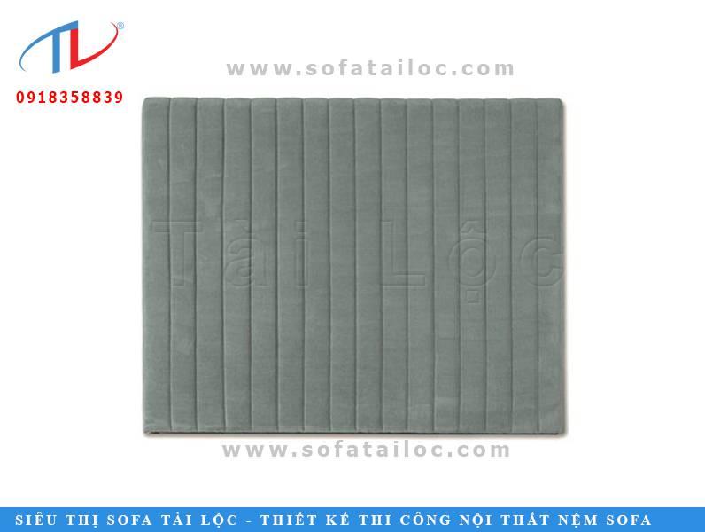 Một mẫu nỉ ốp tường đơn giản với gam màu xám xanh thời thượng