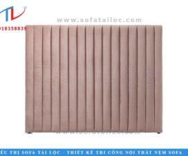 Tấm nỉ ốp tường với chất liệu nhung nỉ màu hồng ngọt ngào
