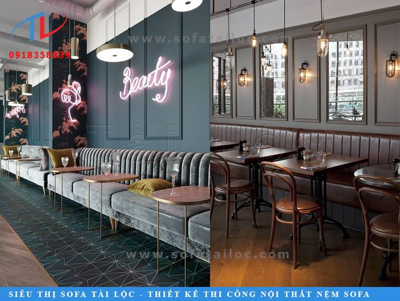 Mẫu bàn ghế sofa quán cafe SQCF6 và SQCF7 cũng là những thiết kế khá đẹp mắt mà bạn có thể tham khảo để lấy ý tưởng trang trí cho quán cafe của mình