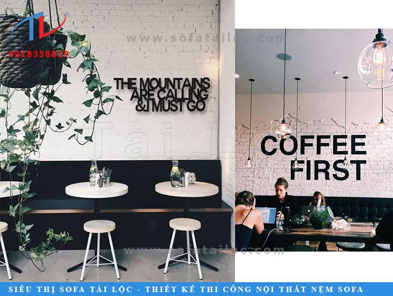 Mẫu bàn ghế cafe giá rẻ cho quán cafe SQCF8 và SQCF9 được bọc da màu đen vô cùng ấn tượng và dễ vệ sinh