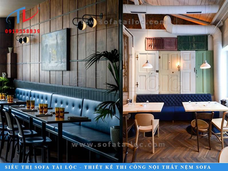 Mẫu ghế sofa cho quán cafe giá rẻ đẹp SQCF12 và SQCF13 vô cùng quen mắt nhưng đầy ấn tượng
