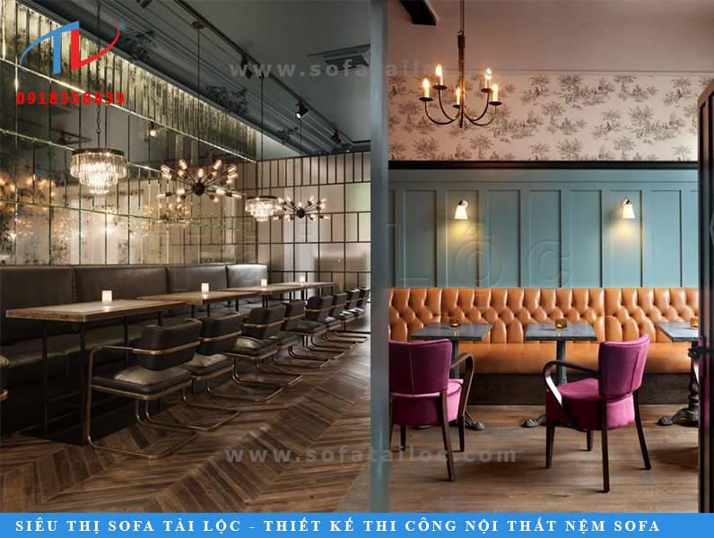 Mẫu sofa quán cafe giá rẻ SQCF14 và SQCF15 rực rỡ, ấm cúng vô cùng