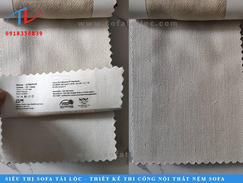 Nhập khẩu vải Bỉ bọc ghế sofa với những tông màu xám thời thượng nhất.