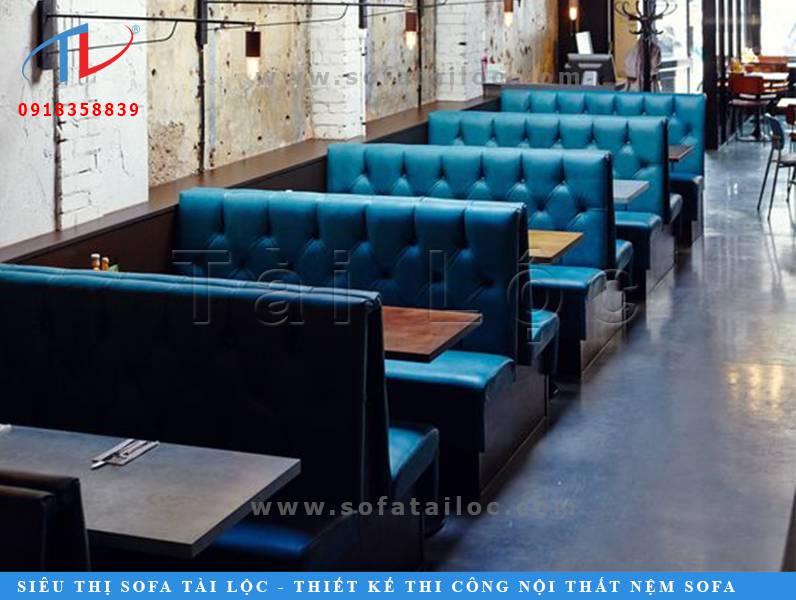 Một dạng sofa quán cafe đẹp khá thông dụng tại các quán cafe, quán ăn hiện nay tại TPHCM.