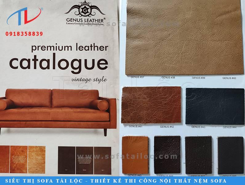 Các mẫu da sản xuất tại Ý luôn biết cách làm chiều lòng giới mộ điệu.Những mẫu da Ý bọc sofa có đường vân sắc nét và màu sắc vô cùng thu hút.Tài Lộc là nơi mua bán da bọc ghế sofa sản xuất tại Ý vô cùng uy tín và chất lượng