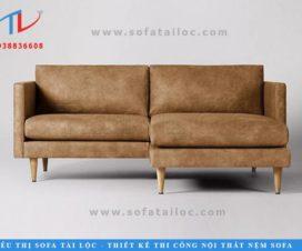 Bộ ghế sofa phòng khách đơn giản với màu nâu sang trọng và tinh tế nhất.