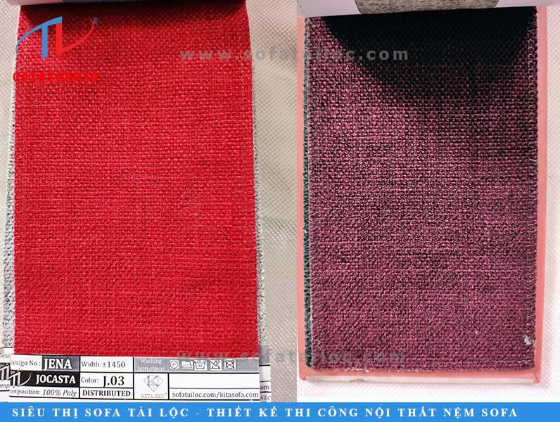 Kho mẫu vải sofa Jocasta là mẫu vải bố với sợi vải dày dặn chắc chắn.