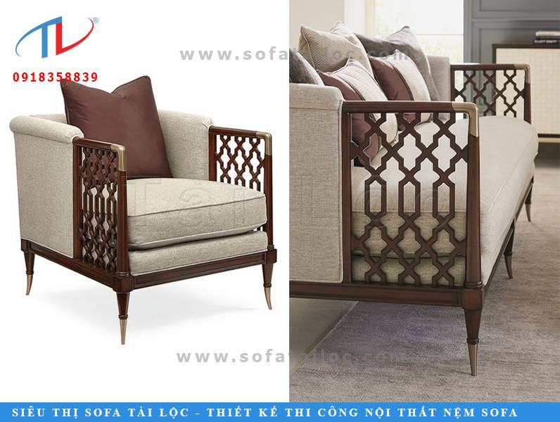 Những mẫu ghế sofa quán cafe giá rẻ thường là những văng đơn phối ít gỗ. Tuy nhiên tại Tài Lộc, khách hàng vẫn có thể mua được những mẫu sofa quán cafe gỗ nệm cao cấp với giá tại xưởng cực kỳ hấp dẫn.