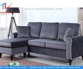 Mẫu sofa nỉ phòng khách hiện đại với gam màu xám khói cực kỳ sang trọng. Đến với Tài Lộc, bàn có thể dễ dàng sở hữu những kiểu ghế với gam màu hay chất liệu mà mình yêu thích trong thời gian nhanh nhất vô cùng dễ dàng.