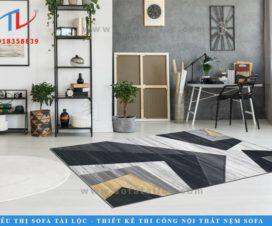 IC0032 là mẫu thảm sofa nhập khẩu cao cấp đậm chất hiện đại với hoa văn là mặt cắt của những khối hợp hình vuông xếp chồng lên nhau. Đơn giản nhưng vô cùng thu hút