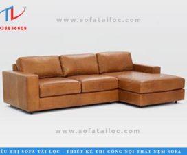 Sofa da phòng khách đẹp mang đến sự sang trọng và nâng lên giá trị của không gian nhà bạn. Sofa da nhập khẩu phòng khách màu nâu đem đến không gian trầm ấm và quen thuộc.