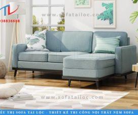 Mẫu sofa vải phòng khách với nét đẹp hiện đại, xinh xắn giúp không gian nhà bạn thêm xinh xắn.