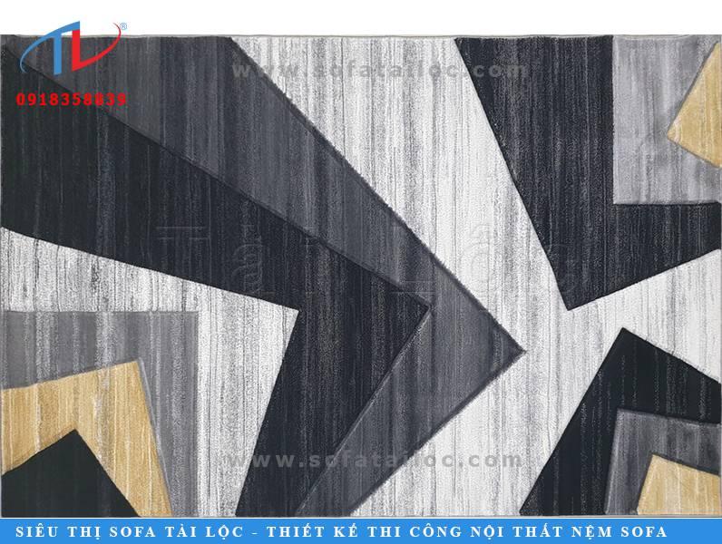Điểm nhấn chủ chốt của mẫu thảm lông đẹp cho sofa lần này là sự phối hợp khéo léo giữa các tông màu trung tính và nhấn nhá bằng gam màu vàng xinh xắn