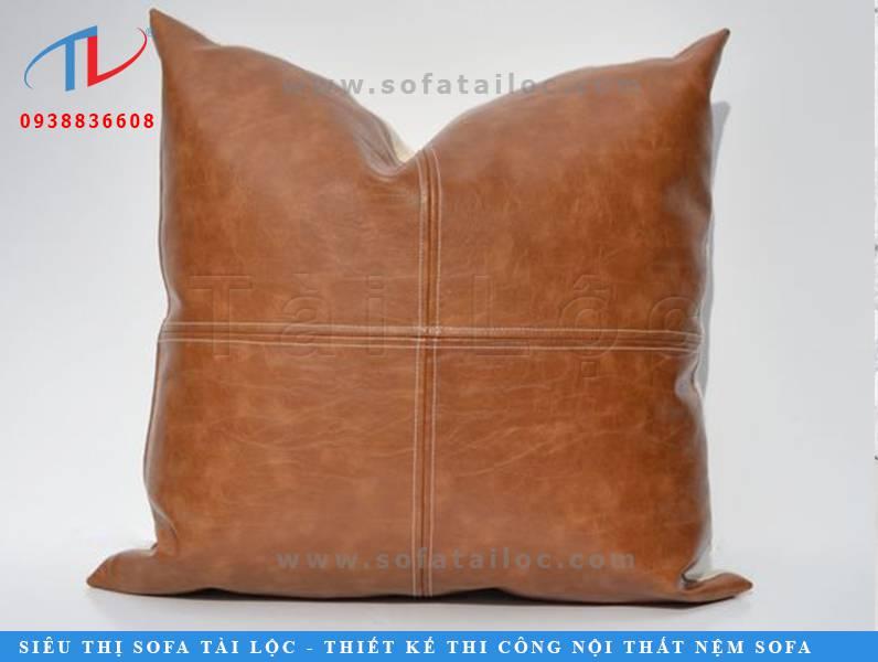 Vỏ gối sofa bằng da mang nét đẹp sang trọng, đẳng cấp khó hòa lẫn