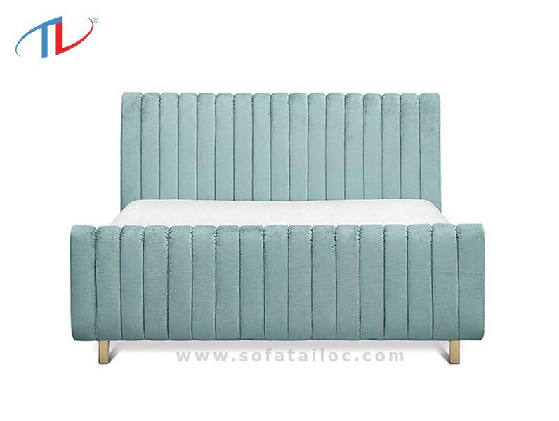 Giường bọc nỉ đệm đầu giường chân giường theo tông màu pastel hay trung tính luôn là lựa chọn ưu tiên của khách hàng ngày nay.