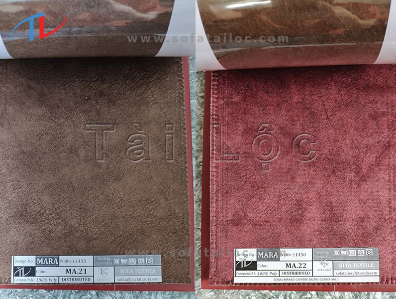 Nâu - đỏ rượu cũng là hai gam màu được đánh giá cao trong tập mẫu nhung Mara cao cấp lần này