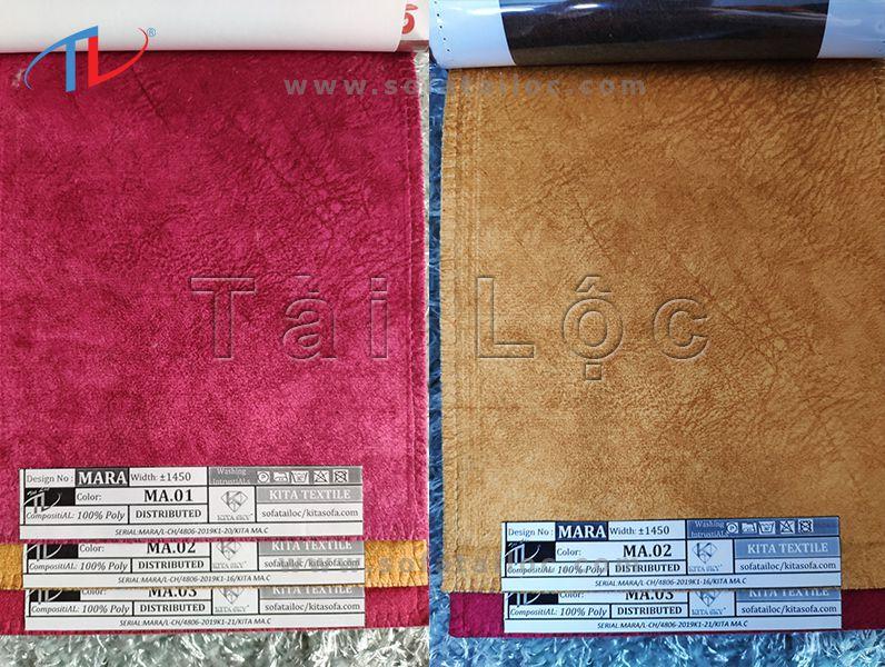 Mở đầu bằng những gam màu đầy tươi sáng và nổi bật, mã vải Mara 01-02 mang đến sức hút ấn tượng hoàn hảo