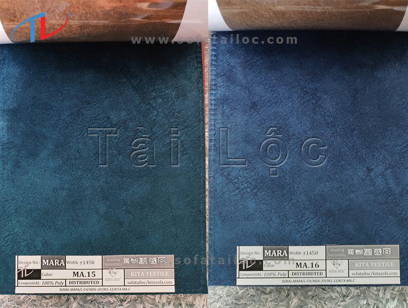 Mẫu vải tông xanh lá đậm và xanh dương đậm khá được đấng mày râu yêu thích