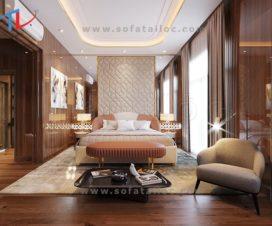Giường bọc nệm cao cấp xuất khẩu nước ngoài